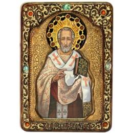 """Живописная икона """"Святитель Иоанн Златоуст"""""""