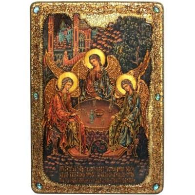 "Большая икона ""Троица"" на мореном дубе"