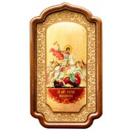 """Декоративная икона """"Георгий победоносец"""""""