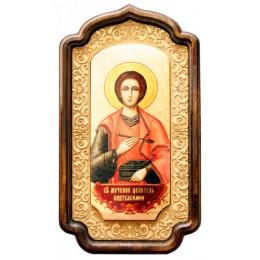 """Декоративная икона """"Великомученик Пантелеймон целитель"""""""
