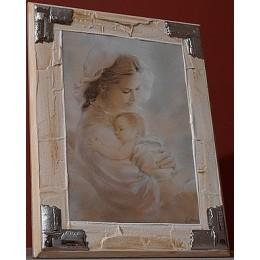 "Панно Linea Argenti ""Мадонна с младенцем"" 25х33 см"