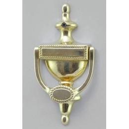 """Дверная колотушка Alberti Livio """"Monterenzio"""" (полир. бронза) h.19см"""