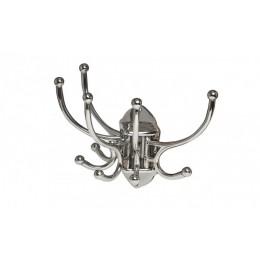 """Настенный крючок для одежды """"Хижина"""" (никелированный) 10 х 21 х 18 см"""