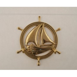 """Настенный крючок для одежды Stilars """"Лодка"""" d.18 см"""