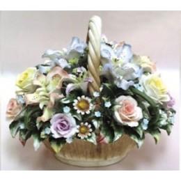 """Фарфоровые цветы """"Летний букет"""""""