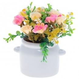 """Искусственный цветок в кашпо """"Роза"""""""