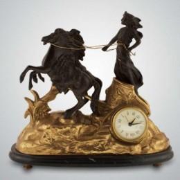 """Каминные часы из бронзы """"Афина"""""""