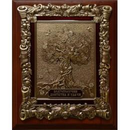 "Деревянная настенная ключница ""Денежное дерево"", 26 х 21 х 9 см"