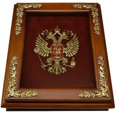 """Деревянная настенная ключница """"Герб России """", 29 x 34 x 9 см"""