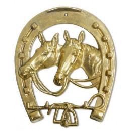 "Настенная ключница Alberti Livio ""Лошади в подкове"" (полир. бронза)"