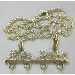 "Настенная ключница Alberti Livio ""Сад бабочек"" (античная бронза) h.14см"