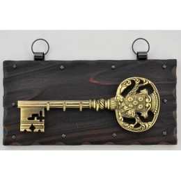 """Великолепная настенная золотая ключница """"Лев-защитник"""""""