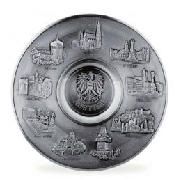 """Декоративная настенная тарелка из олова """"Austria"""" d18см"""