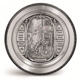 """Декоративная настенная тарелка из олова """"Der Ewige Hochzeit"""" d25см"""