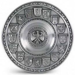 """Декоративная настенная тарелка из олова """"Deutschland"""" d26см"""