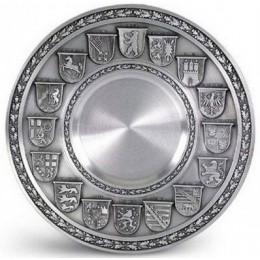 "Декоративная настенная тарелка из олова ""Deutschland mit gravurflache"" d26см"