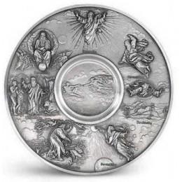 """Декоративная настенная тарелка из олова """"Die Schopfung"""" d28см"""