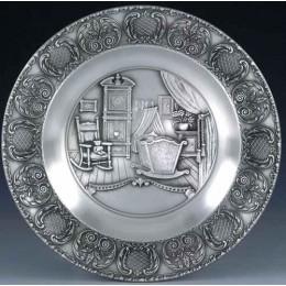 """Декоративная настенная тарелка из олова """"Geburt"""" d23см"""