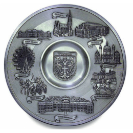 "Декоративная настенная тарелка из олова ""Vienna"" d23см"