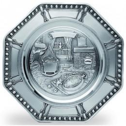 """Декоративная настенная тарелка восьмигранная из олова """"Geburt"""" d24см"""