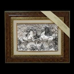 """Панно художественное (барельеф) Arte Casa """"Пара лошадей"""" 48х39см"""