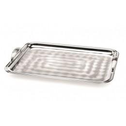 """Поднос прямоугольный Chinelli """"Ponte Ovalato Sera"""" silver 40х30 см"""