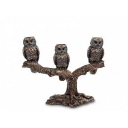 "Подсвечник Veronese ""Три совы"" (bronze)"