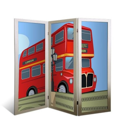 """Ширма-перегородка """"Лондонский автобус"""""""