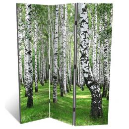 """Декоративная 3-х створчатая ширма """"Березовый лес"""", дл.135см"""