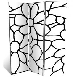 "Декоративная 3-х створчатая ширма ""Цветочный узор"", дл.135см"