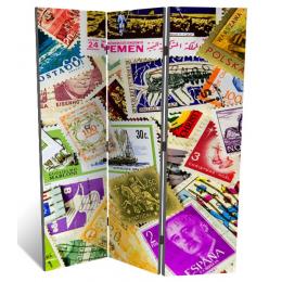 """Декоративная 3-х створчатая ширма """"Коллекция марок"""", дл.135см"""