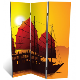 """Декоративная 3-х створчатая ширма """"Морское путешествие"""", дл.135см"""