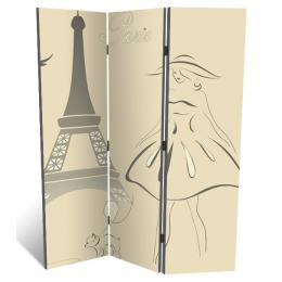 """Декоративная 3-х створчатая ширма """"Парижская мода"""", дл.135см"""