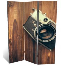 """Декоративная 3-х створчатая ширма """"Ретро фотоаппарат"""", дл.135см"""