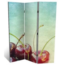 """Декоративная 3-х створчатая ширма """"Спелая черешня"""", дл.135см"""