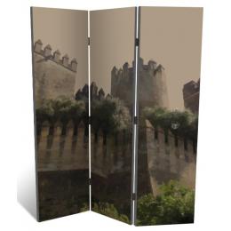 """Декоративная 3-х створчатая ширма """"Средневековый замок"""", дл.135см"""