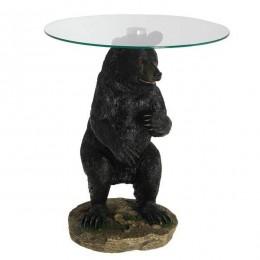 """Декоративная напольная композиция-столик """"Лесной медведь"""""""