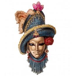 """Венецианская маска """"Леди с розой"""""""