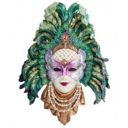 """Венецианская маска """"Перо павлина"""""""