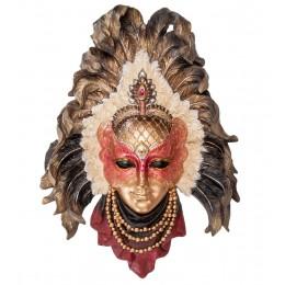 """Венецианская маска """"Перья павлина"""""""