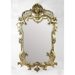 """Зеркало декоративное Belo de Bronze """"Сантана"""" (полир. бронза) h.96см"""