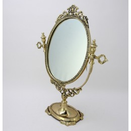"""Зеркало настольное Belo de Bronze """"Будуар"""" (полир. бронза) h.38см"""