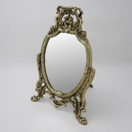 """Зеркало настольное Belo de Bronze """"Лачо"""" (полир. бронза) h.32см"""