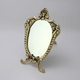 "Зеркало настольное Belo de Bronze ""Прима"" (полир. бронза) h.24см"