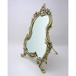 """Зеркало настольное Belo de Bronze """"Рамос"""" (полир. бронза) h.27см"""