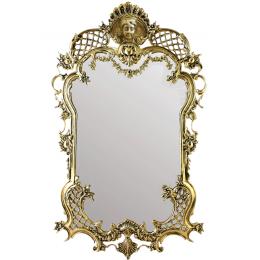 """Зеркало настенное в раме из бронзы """"Империя"""""""