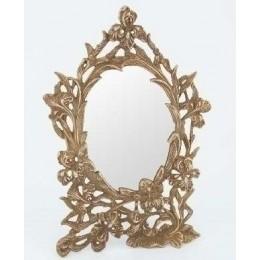 """Зеркало в бронзовой раме """"Цветы"""""""