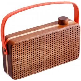 """Переносной ретро радио приемник """"Woodstock orange"""""""