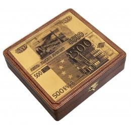 Шкатулка для денег «Рубли-Евро»