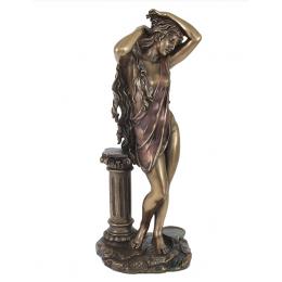 "Статуэтка Veronese ""Афродита с колонной"" 28см (bronze)"